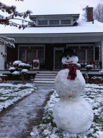The magic of a snowman.