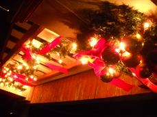 Porch Railing Wreath and Garland