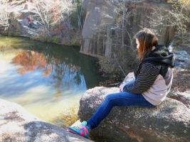 Daughter at Rock Quarry - 2010